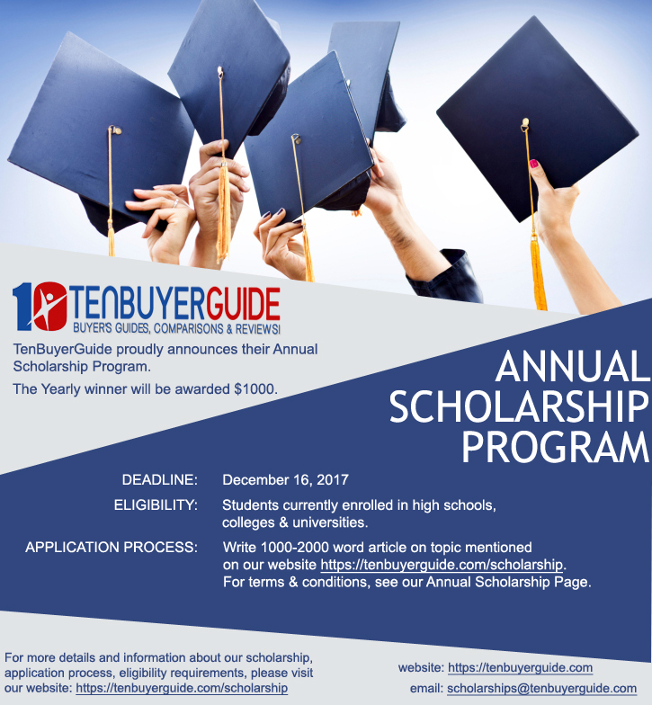 Tenbuyerguide.com Annual Scholarship Program