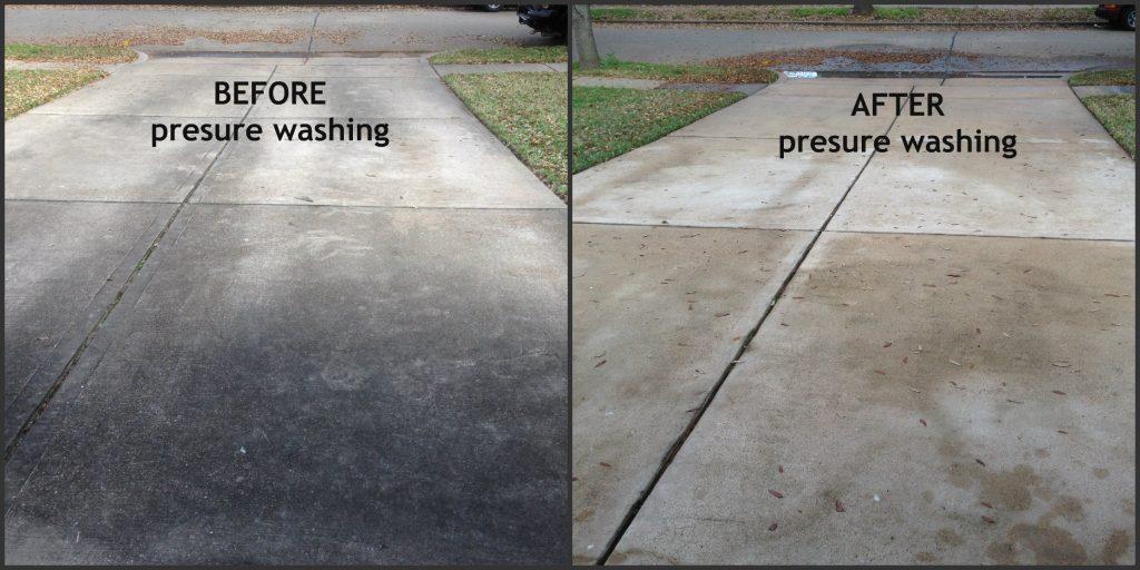 How To Pressure Wash A Concrete Brick Driveway