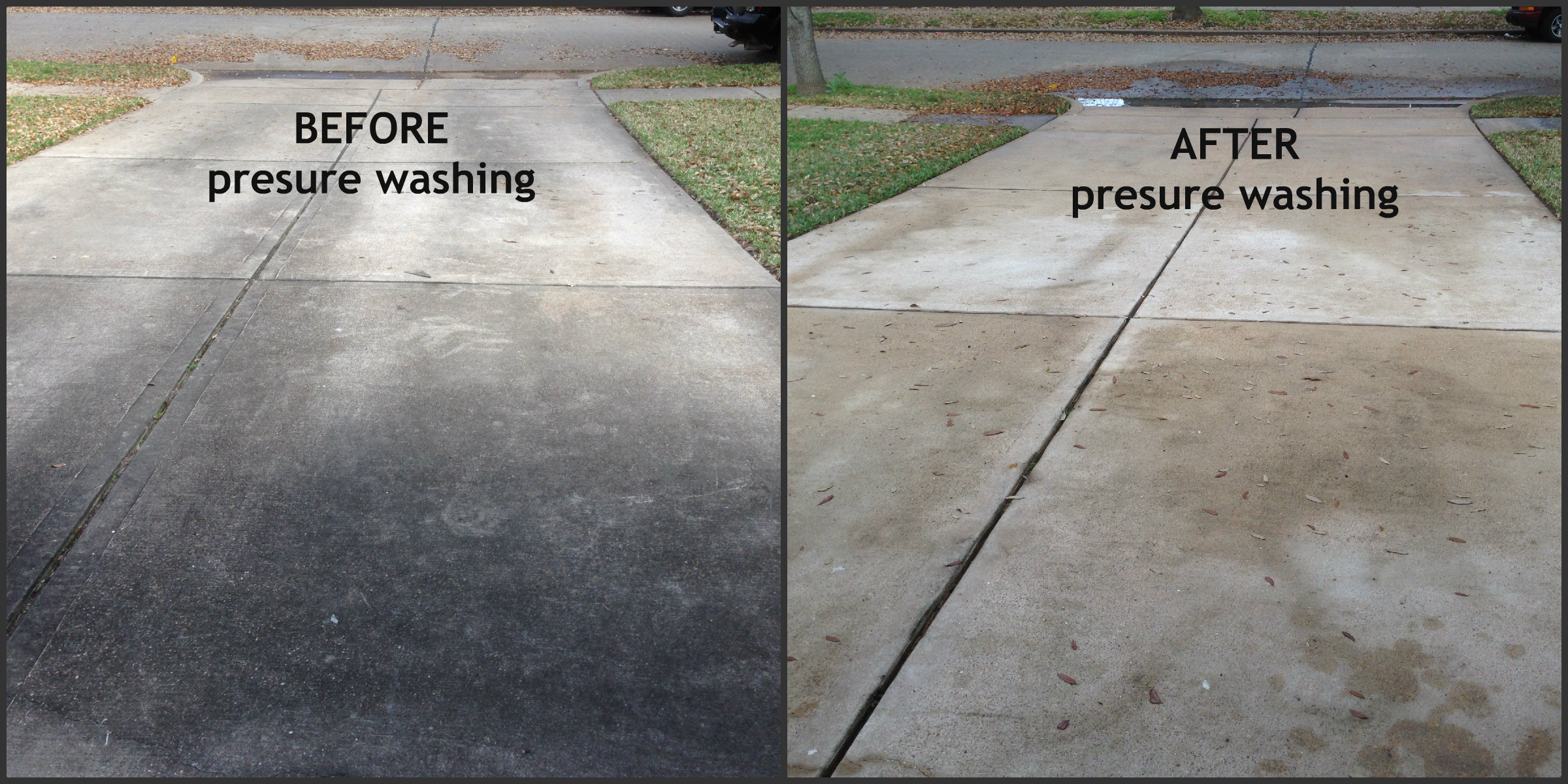 How to pressure wash a concrete brick driveway step by for Pressure wash concrete patio