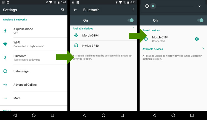 android bluetooth pair