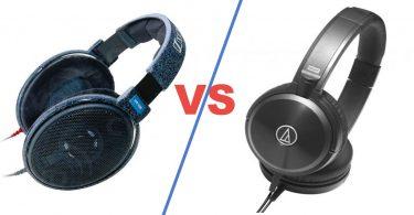 open vs closed headphones