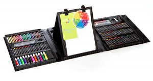 Art 101 Kid's Double-Sided Trifold Easel Art Set