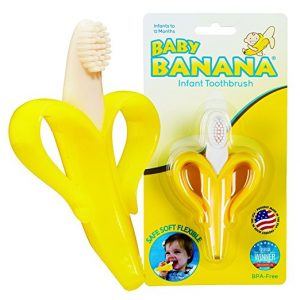 Baby Banana Toothbrush and Teether