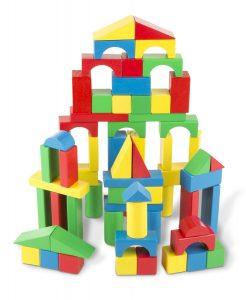 Melissa & Doug Wooden Building Blocks Set