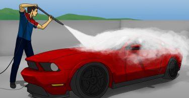 pressure wash a car